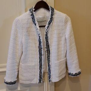White fringed trim jacket
